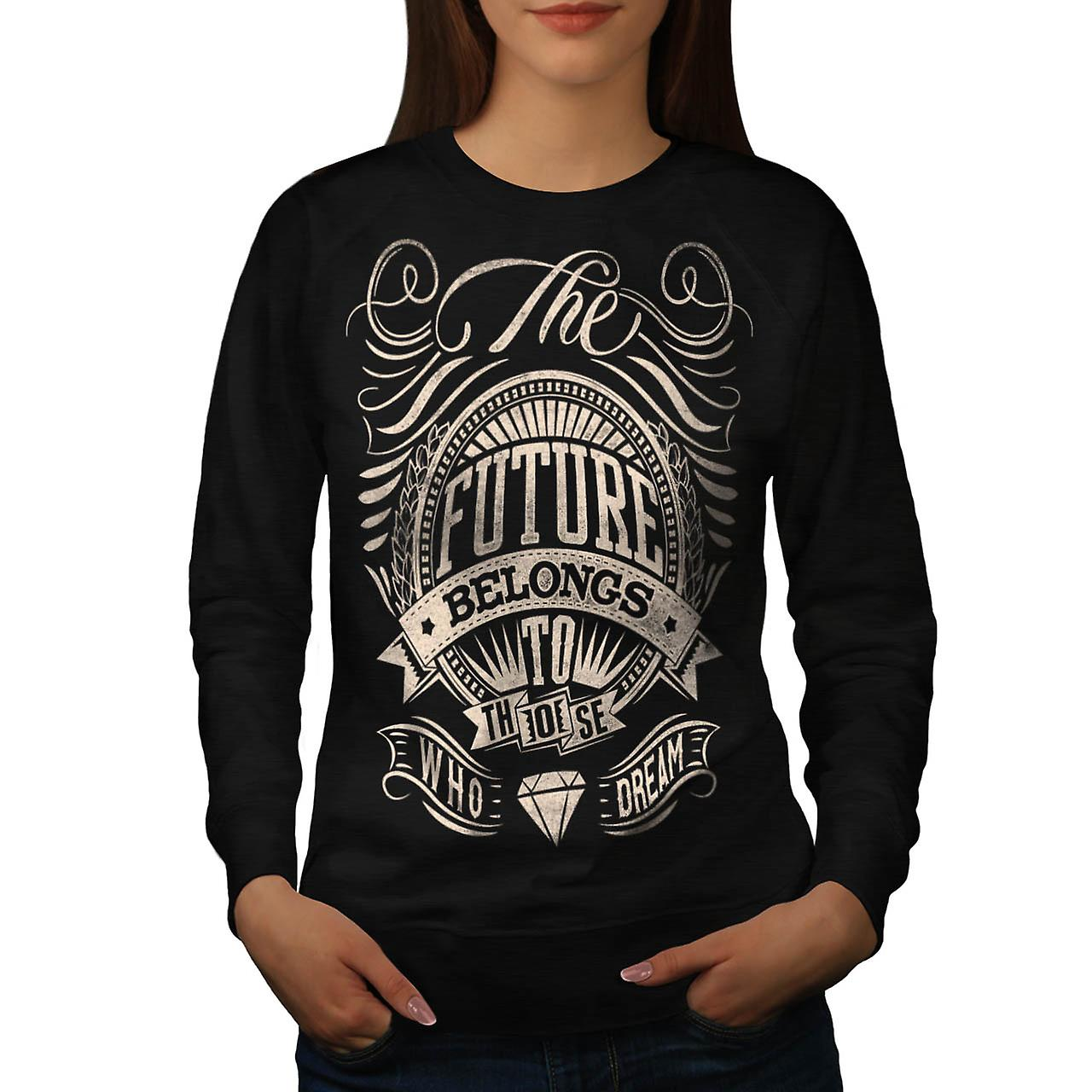 Future For Dream USA About Life Women Black Sweatshirt | Wellcoda
