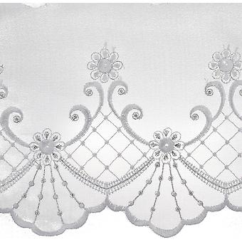 Metallic Embroidered Edge Bridal Organza Trim 6