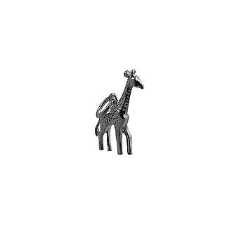 Жираф 20x13mm Серебряный кулон или очарование