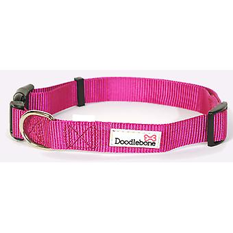 Doodlebone Bold Nylon Collar Pink Large 25mm X50-75cm