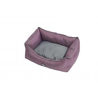Buster Premium sovesofa sort blomme/stål grå 70x90cm