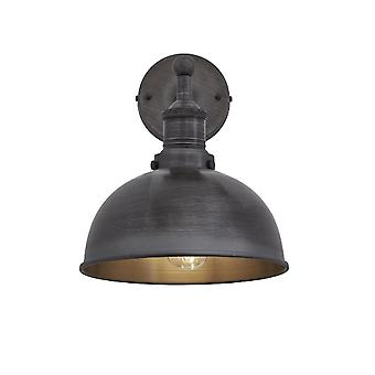 Brooklyn Vintage antico Applique parete lampada - Dome - scuro Pewter - 8