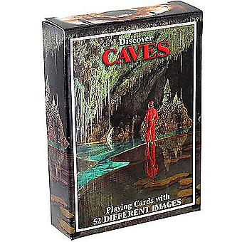 Discover Caves set of 52 playing cards + jokers    (gib)