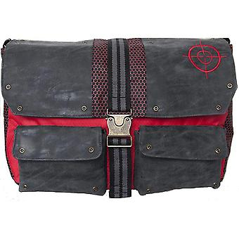 Official Suicide Squad Deadshot Leather Messenger Bag / Satchel