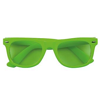 Adults Green Neon Fancy Dress Accessory Dance Glasses With Coloured Lens