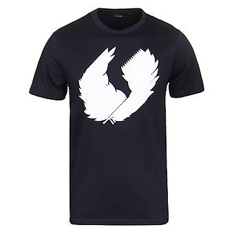 Fred Perry 3D laurbærkrans Navy Crew Neck T-Shirt