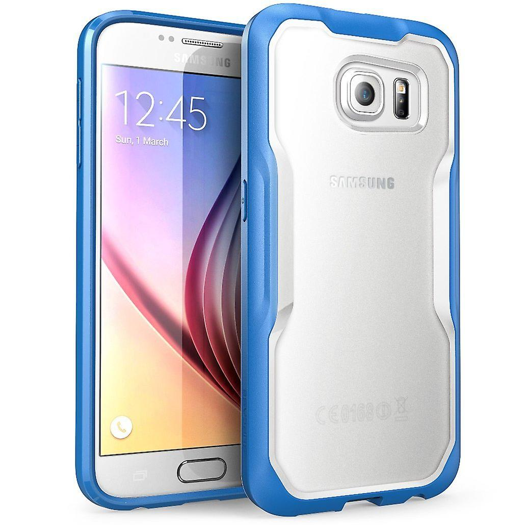 Galaxy S6 Case, SUPCASE Unicorn Beetle Series Premium Hybrid Protective Clear Case for Samsung Galaxy S6-Clear/Blue
