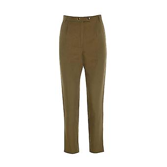 Topshop Khaki Cigarette Pleated Trousers TRS236-12
