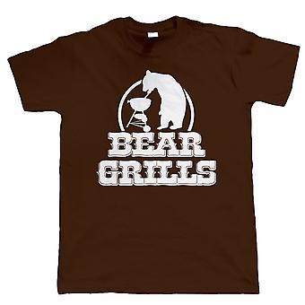 Bear Grills, Mens lustig BBQ Tshirt