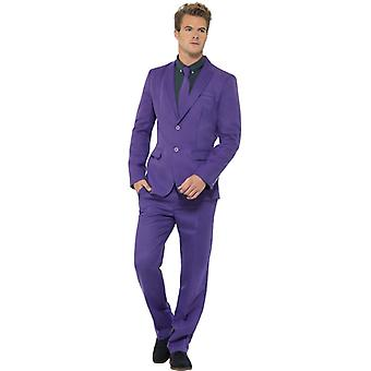 Mr purple Lila violet suit slimline suit men's 3-piece premium