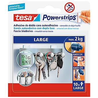 Tesa Powerstrips Large Double-Sided Self-Adhesive Strips Removable