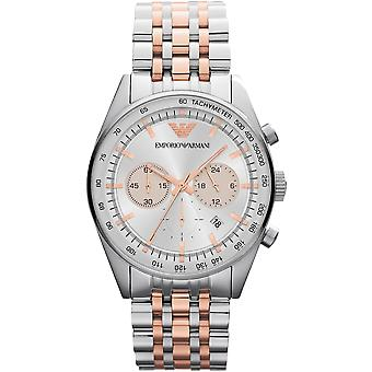 Emporio Armani AR5999 Tazio Two-Tone Silver Stainless Steel & Gold Strap Sportivo Watch