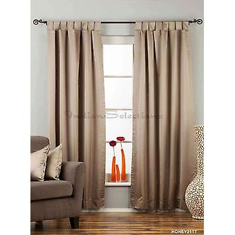 Brownish Gray Tab Top 90% blackout Curtain / Drape / Panel - 50X84