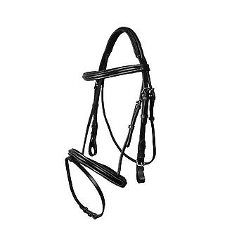 QHP Luxury Stitched Bridle Black Pony (Horses , Pony world , Bridles and reins)