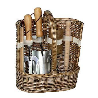 La colada antigua gran jardín Deluxe herramienta cesta