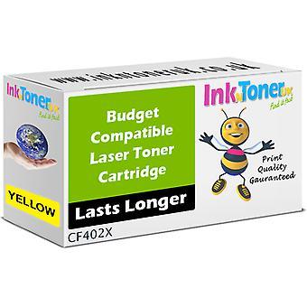 Compatible 201 X Toner CF402X jaune pour HP couleur LaserJet Pro M252n