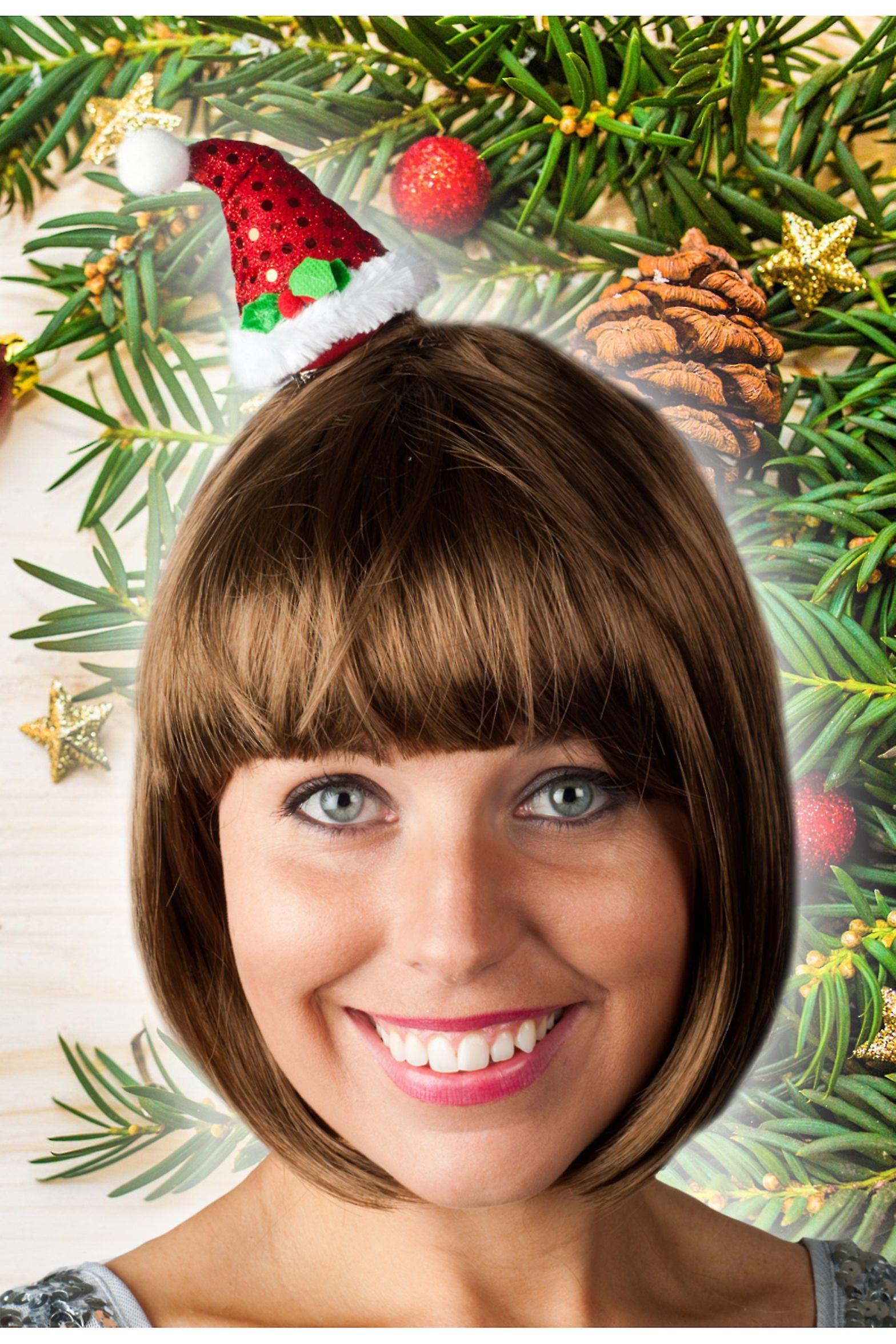 Hair accessories  Very small cute santa hat