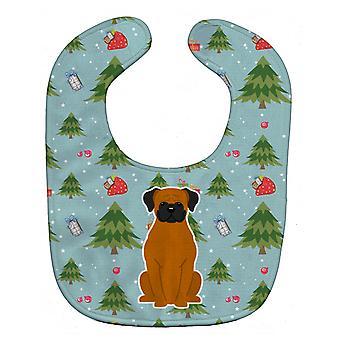 Carolines Treasures  BB4775BIB Christmas Fawn Boxer Baby Bib
