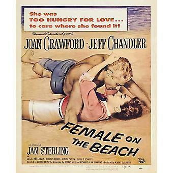 Female on the Beach Movie Poster (11 x 17)