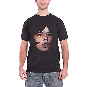 The Rolling Stones T Shirt Mick Jagger Portrait Logo new Official Mens Black