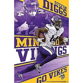 Minnesota Vikings - Stefon Diggs Poster Print