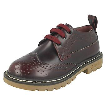 Girls Spot On Lace Up Brogue Shoes H2465