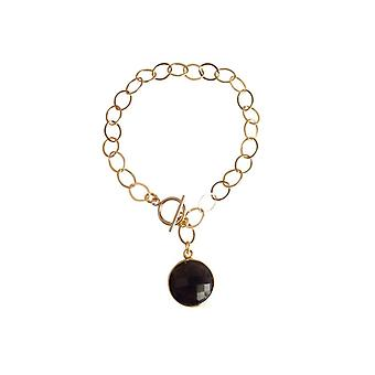 Gemshine - ladies - bracelet - gold plated - smoky quartz - Brown - CANDY