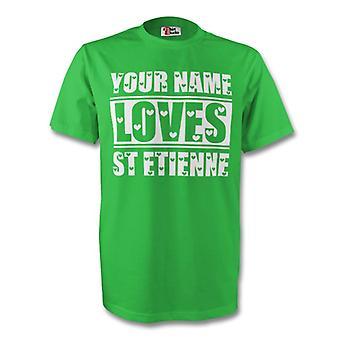 Su nombre le encanta St Etienne camiseta (verde) - niños