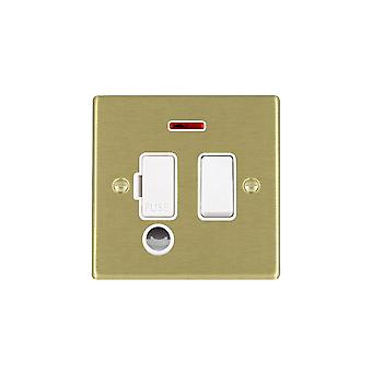 Hamilton Litestat Hartland mosiądz satyna 13A DP bezpiecznik SP + Neon + CO WH/WH