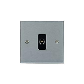 Hamilton Litestat Cheriton viktorianska Satin Chrome 1g icke-isolerade TV 1 av/1out BL