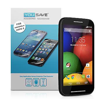 Yousave Accessories Motorola Moto E Screen Protectors X3