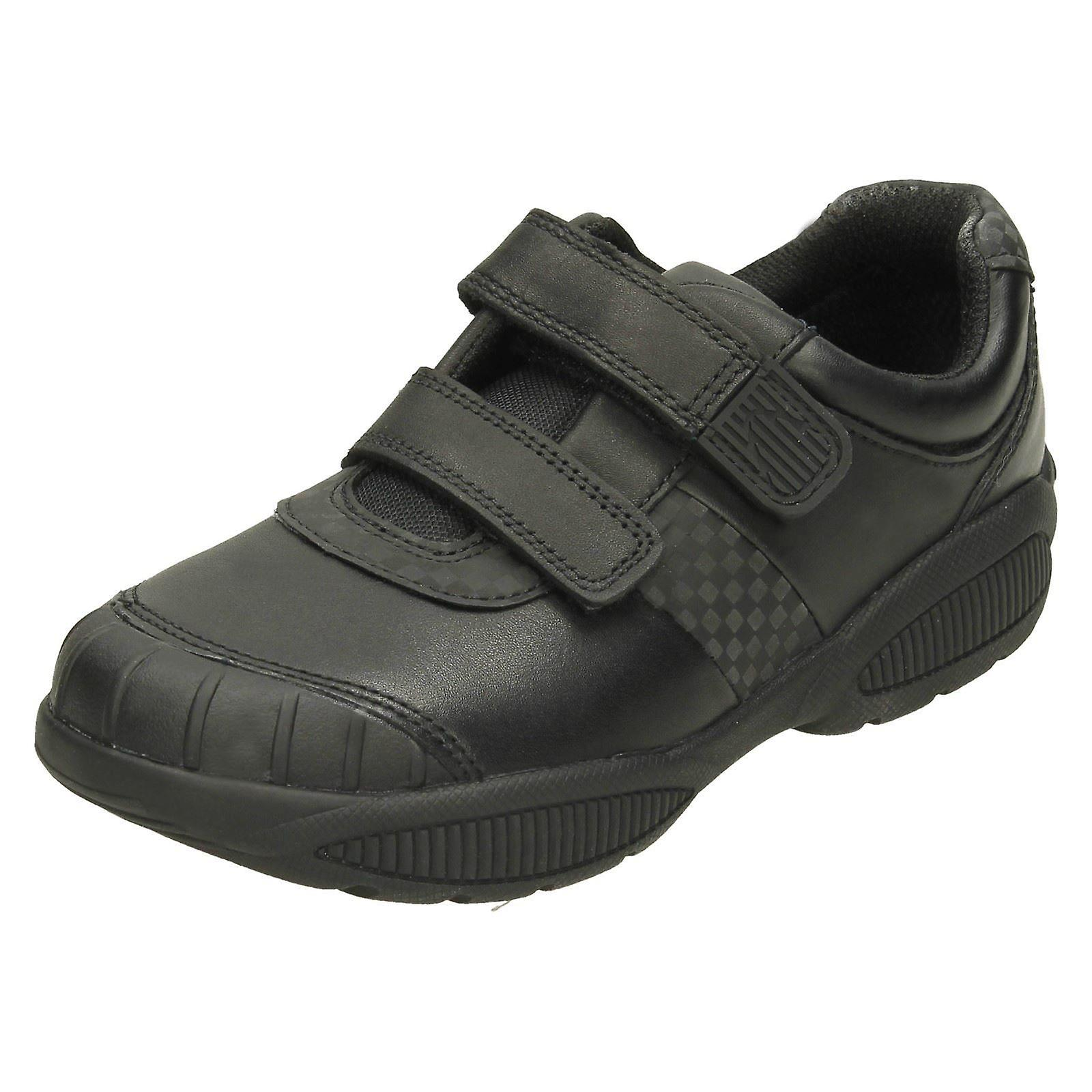 Boys Clarks Scuff Protection Formal Shoes Jonas Glo - Black Leather - UK Size 8G - EU Size 255 - US Size 85W