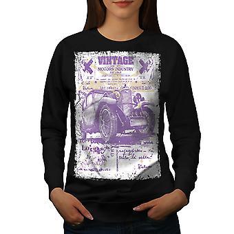 Auto Old School Vintage vrouwen BlackSweatshirt | Wellcoda
