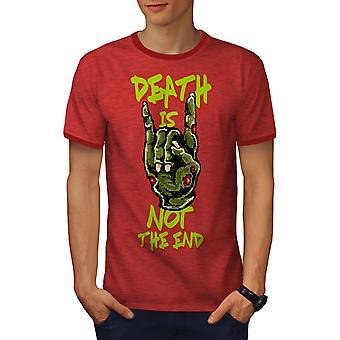 Death Slogan End Men Heather Red / RedRinger T-shirt | Wellcoda