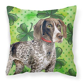 German Shorthaired Pointer St Patrick's Fabric Decorative Pillow