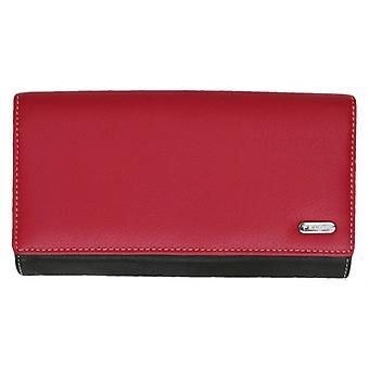 Felda Extra Large Card and Coin RFID Purse - Red/Black
