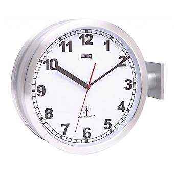 Balance radio controlled wall clock 38 cm Analog Silver/White