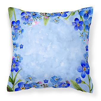 Carolines Treasures  CK1703PW1818 Myosotis flowers Fabric Decorative Pillow