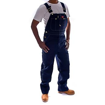 Dickies Denim Dungarees - Indigo Dickies DB100RNB Mens Work Bib Overall