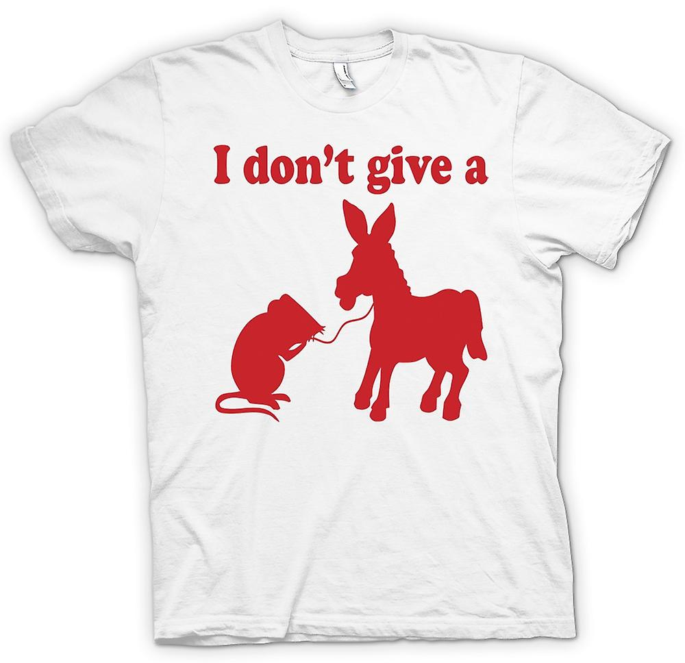 Mens T-shirt - I Don't Give A Rats Ass - Quote