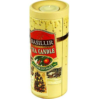Basilur Tea - Tea Candle - Loose Black Tea In Tea Caddy 2For1