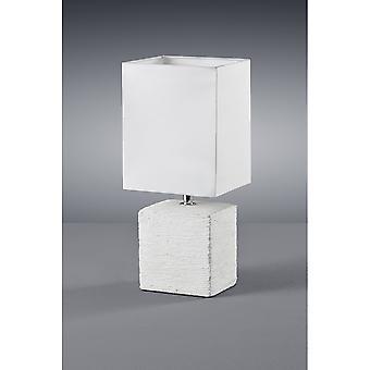 トリオ Ping モダン アンティークの白いセラミック テーブル ランプ照明