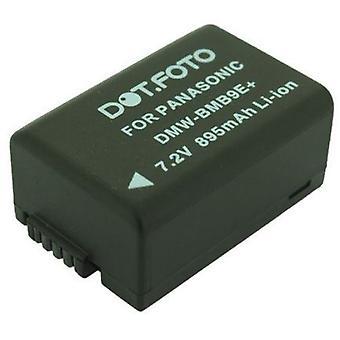 Dot.Foto Panasonic DMW-BMB9, DMW-BMB9E, DMW-BMB9PP sostituzione della batteria - 7.4 v / 895mAh