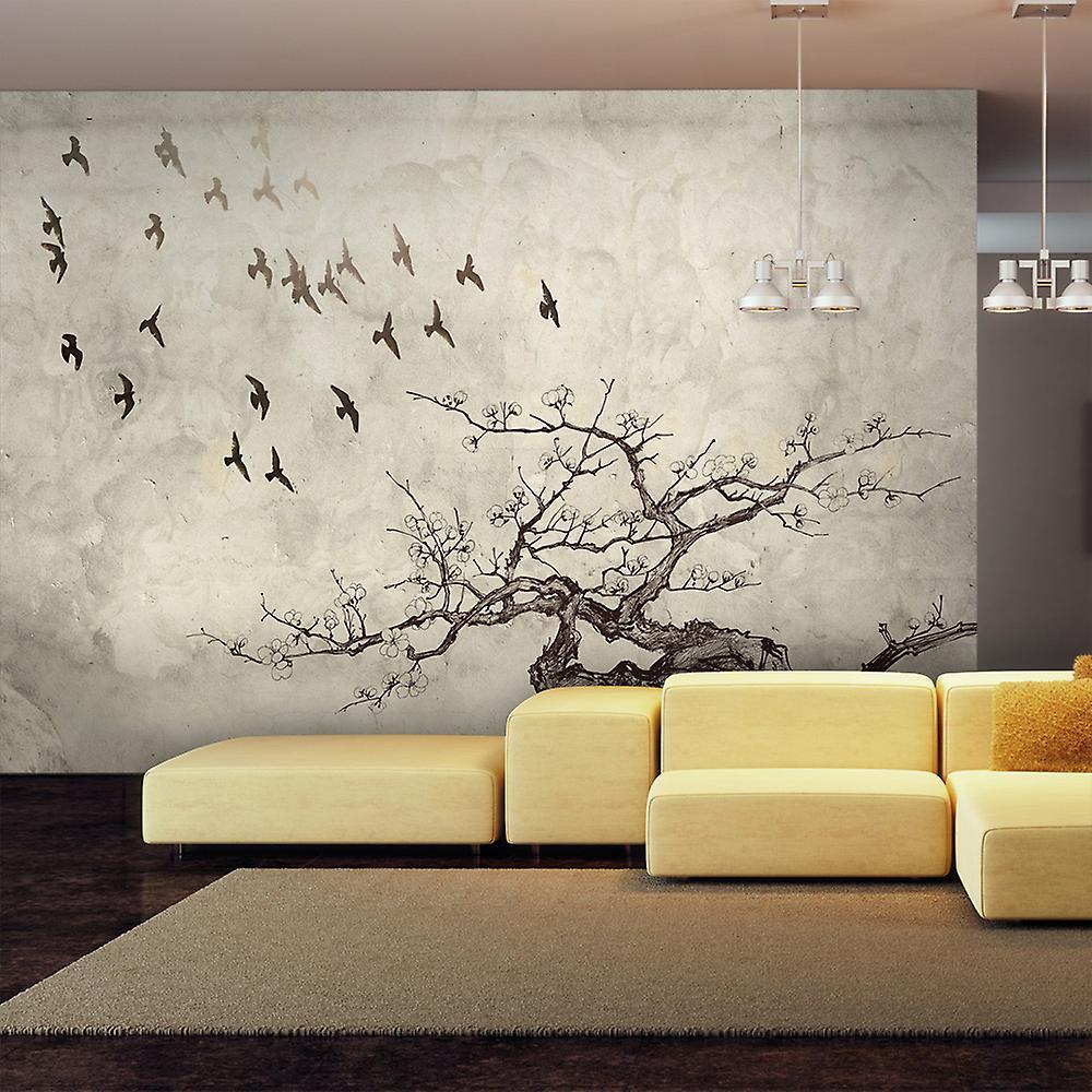 Papier peint - Flock of birds