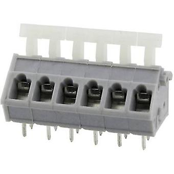 Degson DG243-5.0-06P-11-00AH Spring-loaded terminal 3.31 mm² Number of pins 6 Grey 1 pc(s)