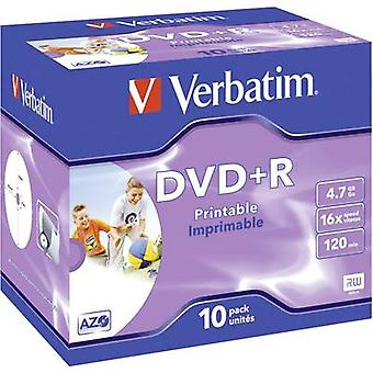 Blank DVD+R 4.7 GB Verbatim 43508 10 pc(s) Jewel c