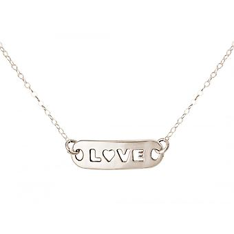 Gemshine - Damen - Halskette - WISHES - LOVE - Silber - 48 cm
