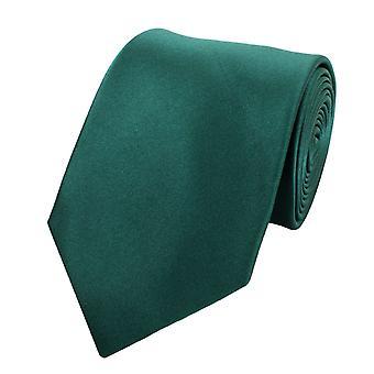 Schlips Krawatte Krawatten Binder 8cm grün tannengrün uni Fabio Farini