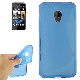 Mobile affaire TPU housse pour téléphone portable HTC desire 700 bleu