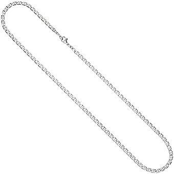 Ожерелье цепь 925 стерлингового серебра родием карабин Серебряные цепи 60 см